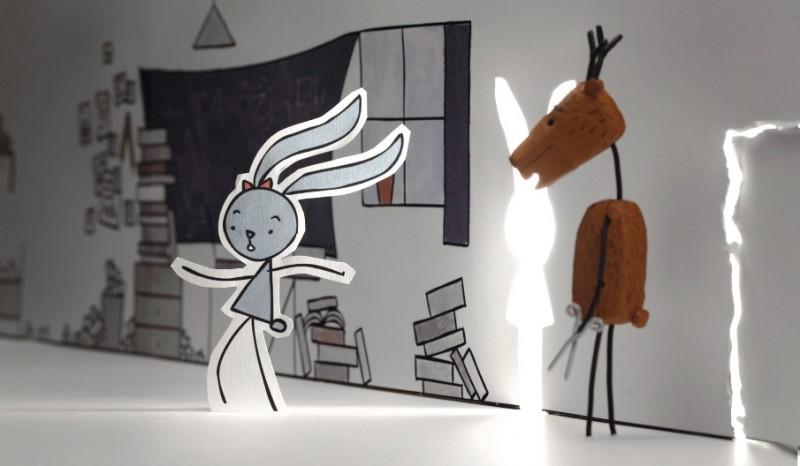 "Animação ""Rabbit and Deer"", de Peter Vacz"