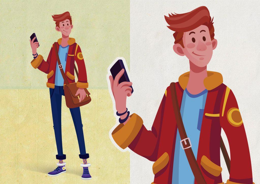 Personagem Pedro, de Produção Multimídia